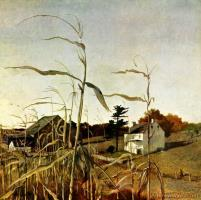 Autumn Cornfield October 1 by Andrew Wyeth