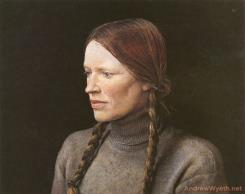 Braids, 1979 by Andrew Wyeth